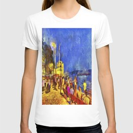 Istanbul At Night Van Gogh T-shirt