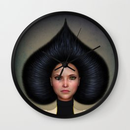 Queen of Spades Wall Clock
