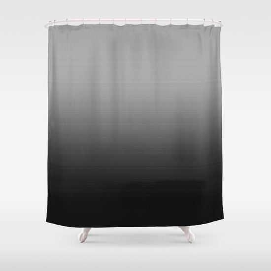 Gray Black Ombre Shower Curtain By Vintageappeal623