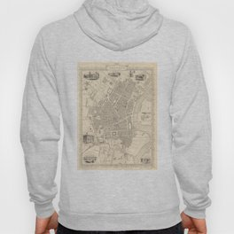 Vintage Map of Belfast Ireland (1851) Hoody