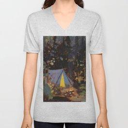 Tom Thomson Campfire 1916 Canadian Landscape Artist Unisex V-Neck