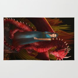 Queen of the Dragon iPhone, ipod, ipad, pillow case and tshirt Rug