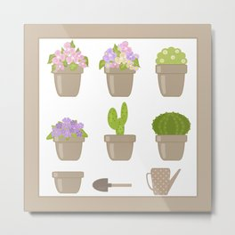 A wonderful design for those who are fond of plants , flowers . Metal Print