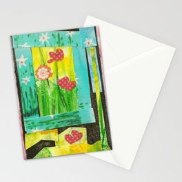 A flowery window in pink Stationery Cards
