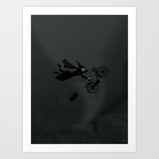 Wicked Bike Trick Art Print
