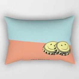 Two Happy Beers Rectangular Pillow