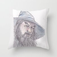 gandalf Throw Pillows featuring Gandalf by jamestomgray