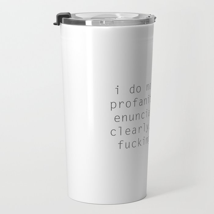 FUCKING LADY Travel Mug