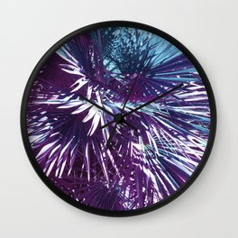 Lost in the wild - Tropical Palm leaves #tropicalart #buyart #Society6 Wall Clock