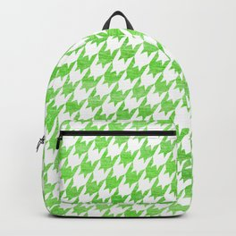 Green Houndstooth Pattern Backpack