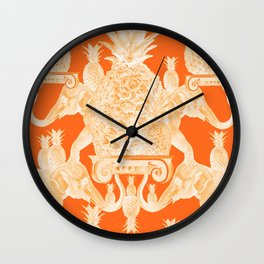 A tower of elephants and pineapples Wall Clock