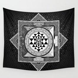Mandala Sri Yantra Spiritual Zen Indian Bohemian Yoga Mantra Meditation Wall Tapestry