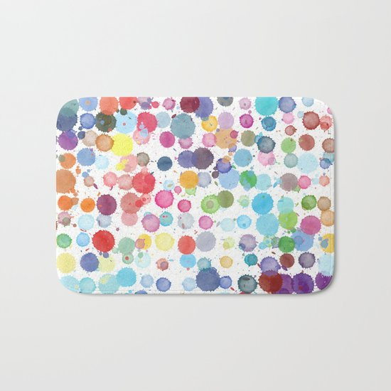ink drops Bath Mat