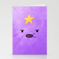 lumpy space princess Stationery Cards featuring Adventure Time - Lumpy Space Princess by hannahclairehughes