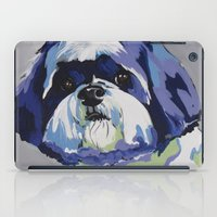 shih tzu iPad Cases featuring Shih Tzu Pop Art Pet Portrait by Karren Garces Pet Art