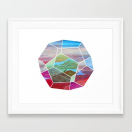 Geometric Birdseye Framed Art Print