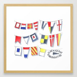 Pennant Flags Framed Art Print