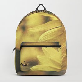 Sunflower Field Bumble Bee A417 Backpack