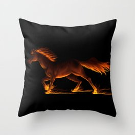 Fire Trail Horse Throw Pillow