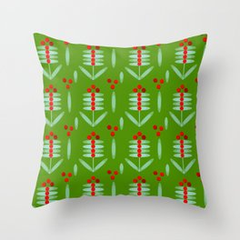 Lingonberry pattern - By Matilda Lorentsson Throw Pillow