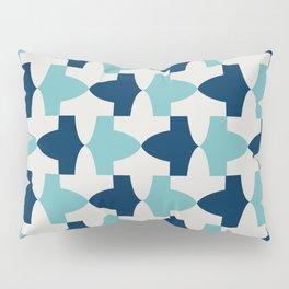 Alhambra Motif Blue Palette Pillow Sham