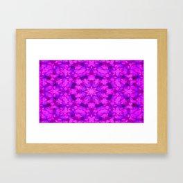 Star blossom pattern Framed Art Print