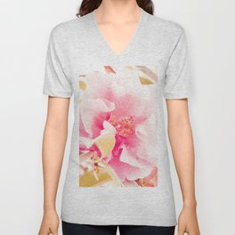 camellia I Unisex V-Neck