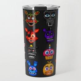 FNAF pixel art Travel Mug