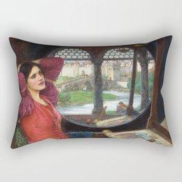 "John William Waterhouse - ""I am half sick of shadows"" said the Lady of Shalott Rectangular Pillow"