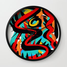 Primitive Abstract Art Street Style Wall Clock