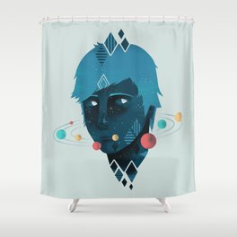 Mind/Space Shower Curtain