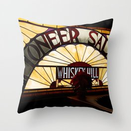 Pioneer Saloon  Throw Pillow