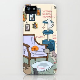 Cat Lady's Home iPhone Case