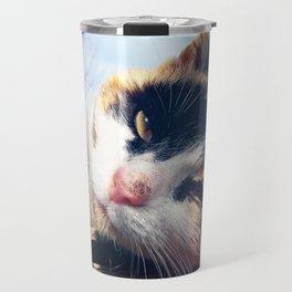 cat lying Travel Mug