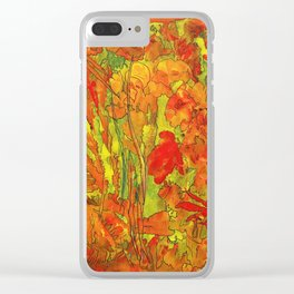 Summer doodle Clear iPhone Case