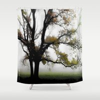 alone Shower Curtains featuring Alone by Nev3r
