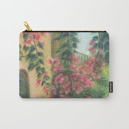 Picturesque patio_Pastel painting Carry-All Pouch