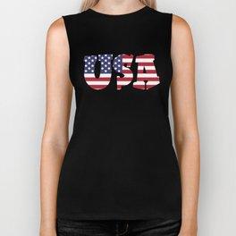 USA Stars & Stripes Biker Tank