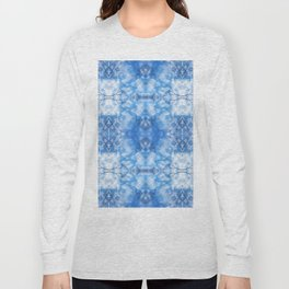 212 - Blue Sky and clouds abstract pattern Long Sleeve T-shirt