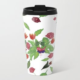 Hand-made Flowers Travel Mug