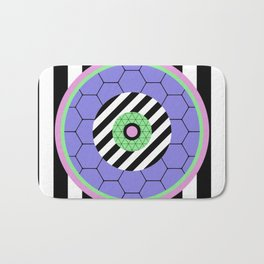 Bold Pastel Geometry Bath Mat
