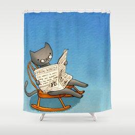 Jellybean The Grown-up Cat Shower Curtain