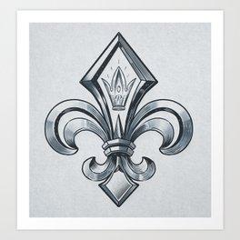 Royal - fleur de lys Art Print