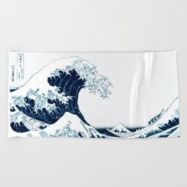 The Great Wave - Halftone Beach Towel