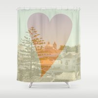 portugal Shower Curtains featuring I Love Portugal by Mr and Mrs Quirynen