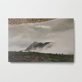Mirrored Mountain Metal Print