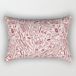 art supply pattern Rectangular Pillow