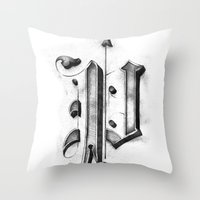 pi Throw Pillows featuring Pi by Resistenza