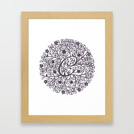 C - monogrammed initial C print Framed Art Print
