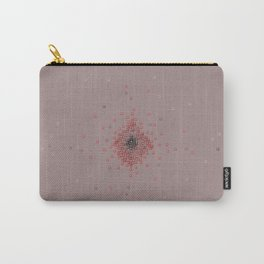 Squares in reds Carry-All Pouch